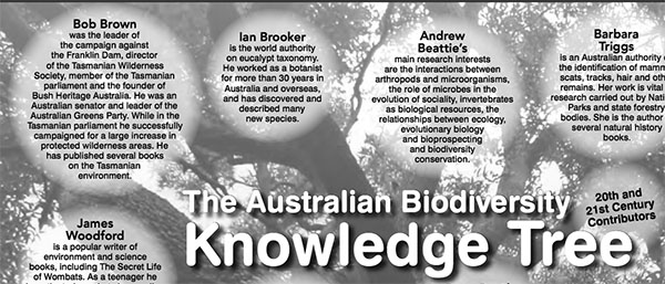 Teh Australian Biodiversity Knowledge Tree, Bob Brown