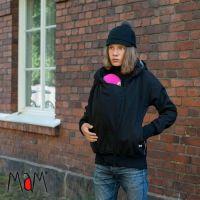 Manduca Mam softshell kabát bélelt fekete-szürke