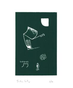 joachim_sontag_sérigraphie_dessin_vert_vert