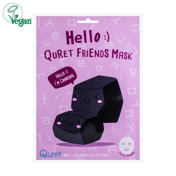 Hello :) Quret Friends Mask - Charcoal