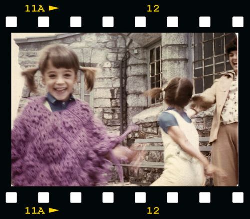a childhood photo - me with ridiculous pigtails