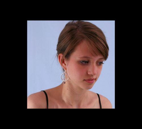 Photo of Gypsy Double Circle Earrings on Model, Ann: photo by Joana Miranda