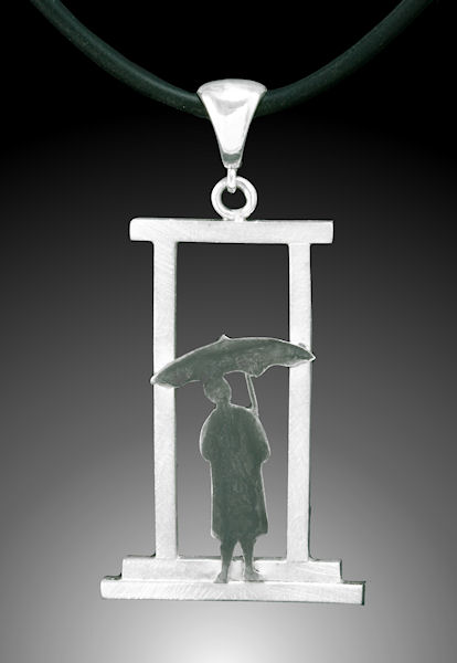 Photo of Rainy Day Umbrella Lady Pendant by Joana Miranda