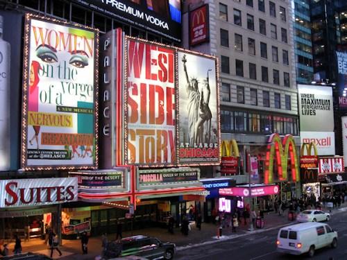 Times Square theatre district, photo taken by Joana Miranda