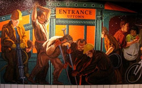 Photo of mosaic in NY subway station, taken by Joana Miranda