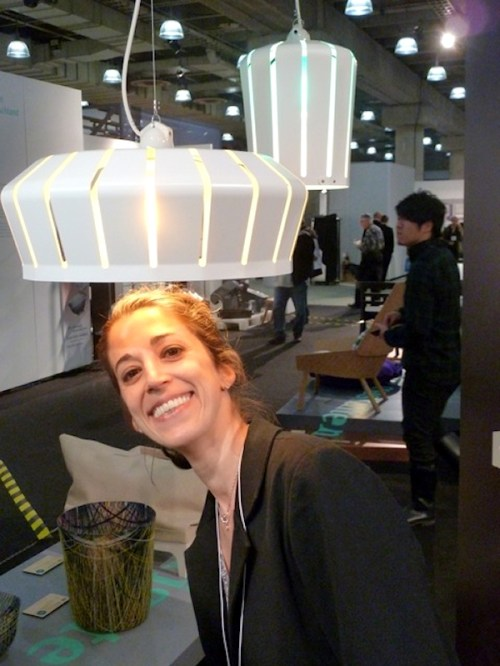 Photo of fashion-forward lamp at the International Contemporary Furniture Fair