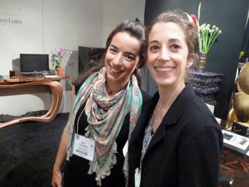 Photo of ICFF exhibitor Rita Oliveira with Joana Miranda