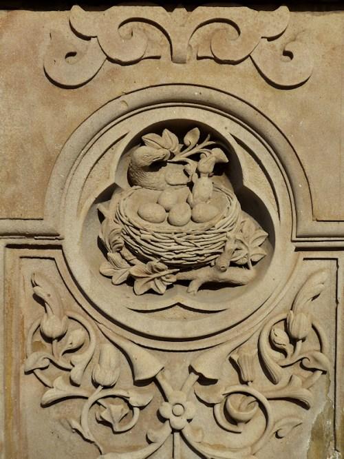 Photo of stone bird's nest at Bethesda Fountain, taken by Joana Miranda