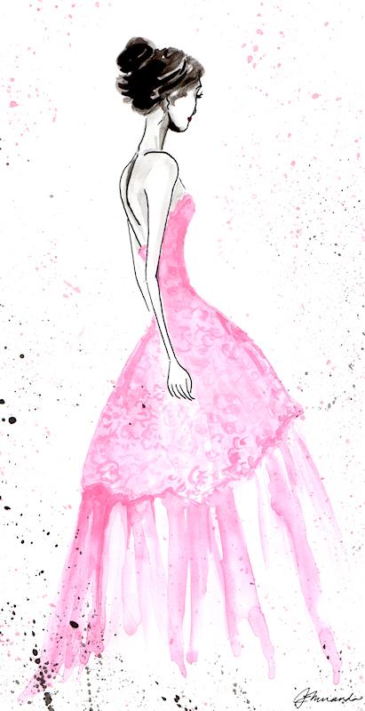 "Ink and Watercolor ""Josephine's Secret"" illustration by Joana Miranda"