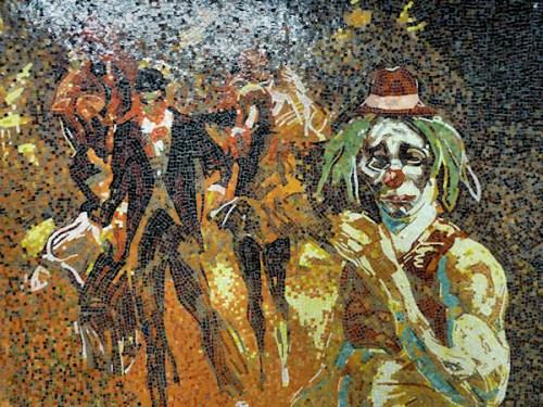 Photo of mosaic mural in Penn Station, taken by Joana Miranda