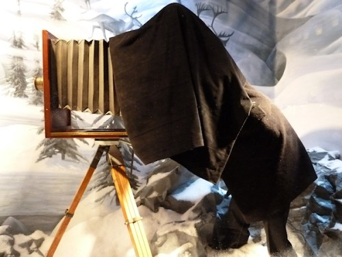 Photo of old-fashioned camera man as see in Bergdorf's 2011 Christmas windows, taken by Joana Miranda