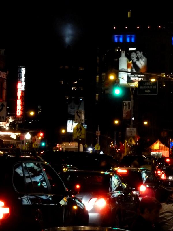 Photo of NY's lower west side at night, taken by Joana Miranda