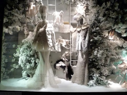 2013 Icy Xmas Window Display at Bergdorf Goodman