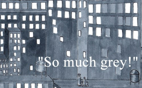 Grey detail from illustration