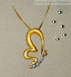 Butterfly pendant with diamonds copyright Joana Miranda