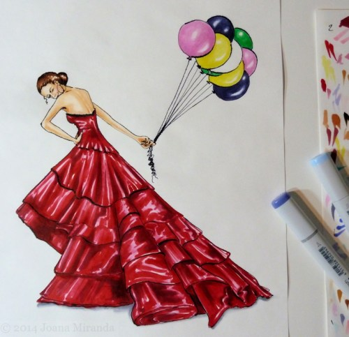 couture dress rendered