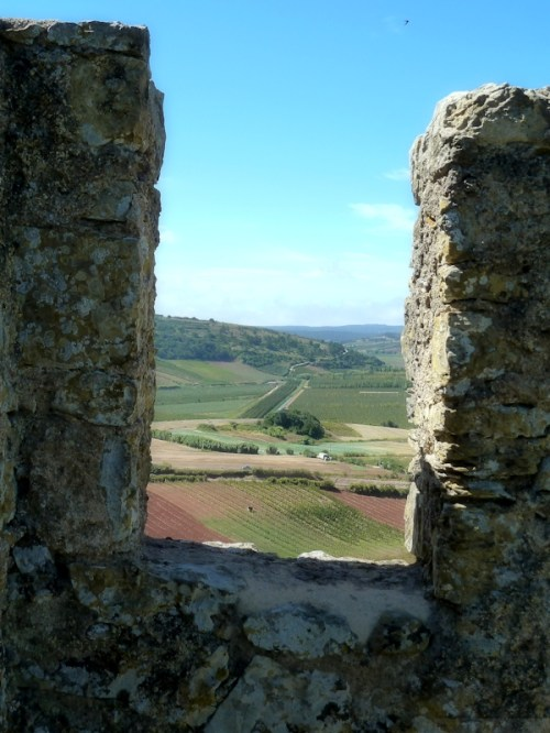 Portuguese countryside through the walls at Obidos