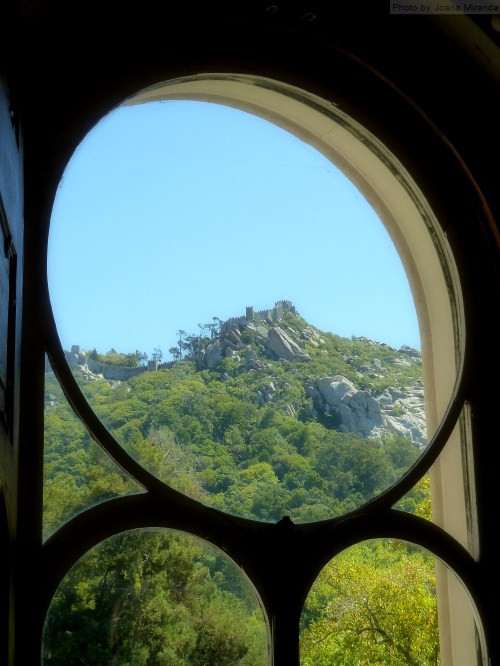 through the window at Quinta Regaleira