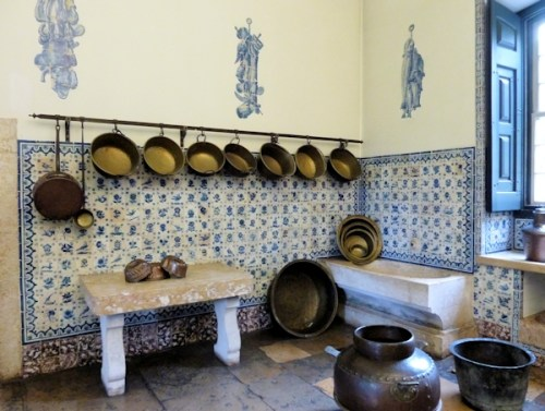 tiled kitchen in museum