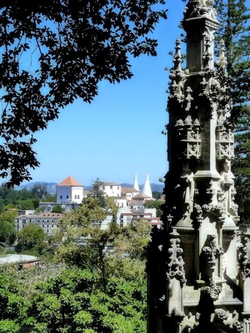 view of the Palacio de Villa as seen from Quinta Regaleira