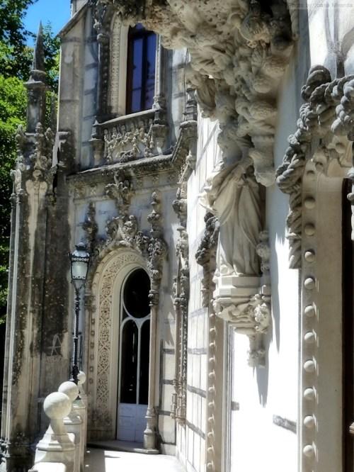 walking along the balcony of Quinta Regaleira