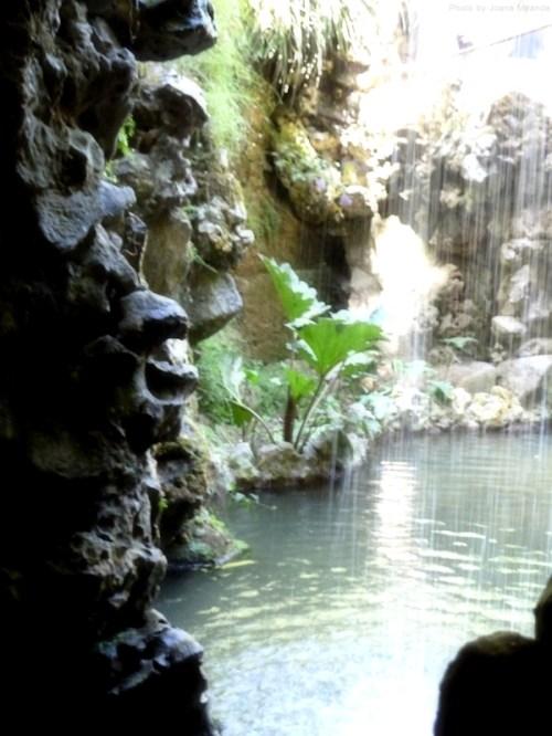waterfall at Quinta Regaleira