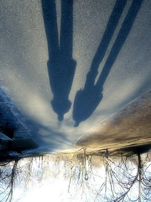 two shadows upside down