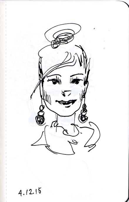 cute fashionista sketch