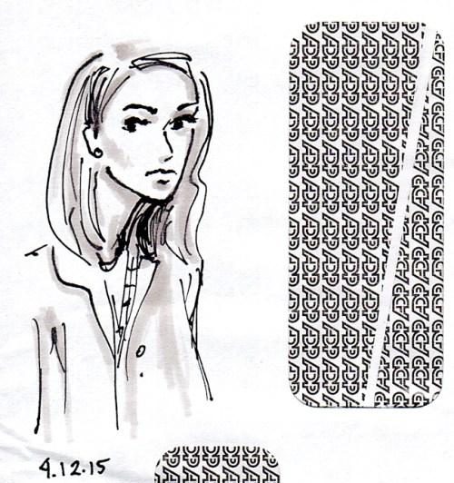 Halle Berri sketch on envelope