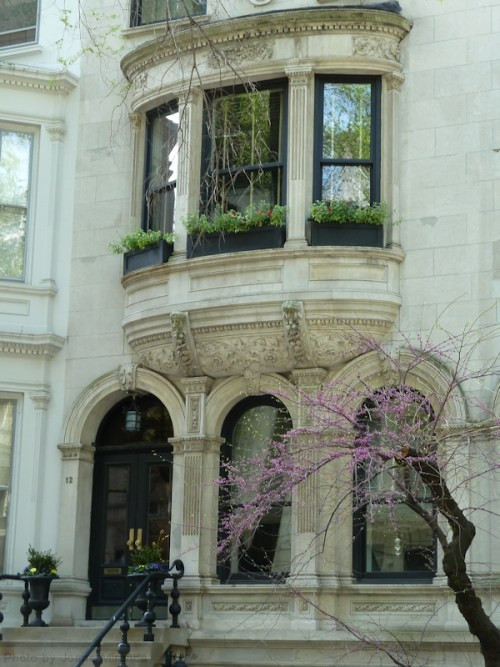 Upper West Side brownstone in the springtime