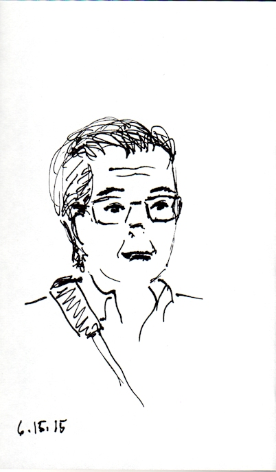 middled aged man sketch
