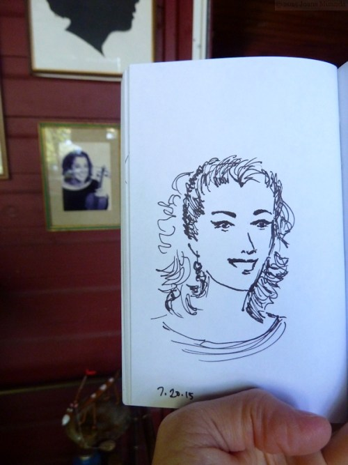 ink sketch inspired by my publicity photo