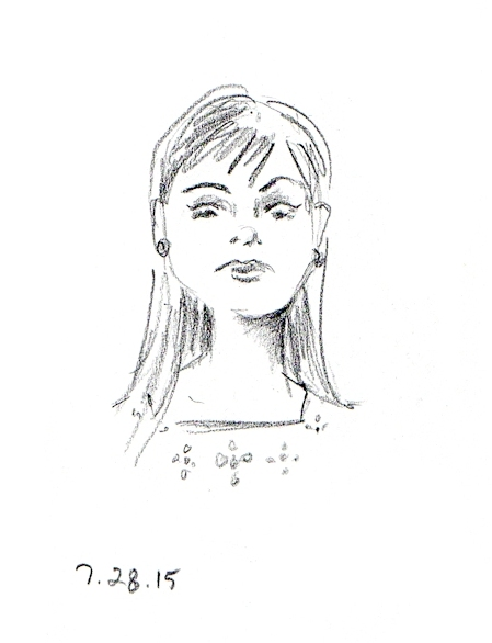 Surprised girl sketch