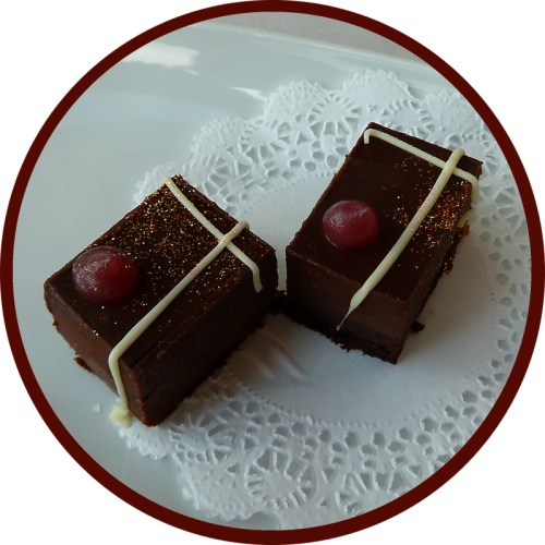 photo of two chocolates from Robert Restaurant