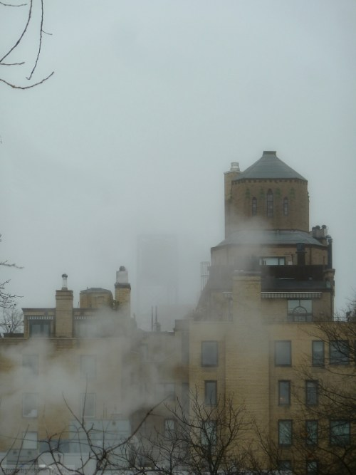 Upper East Side in the fog