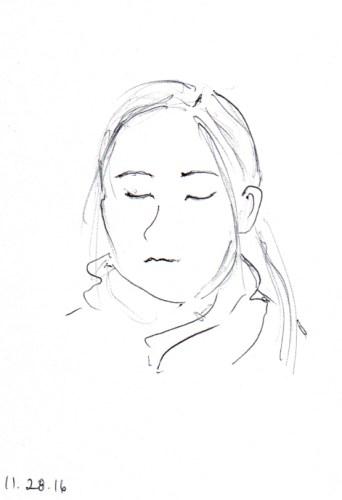 quick-sketch-of-sleeping-woman