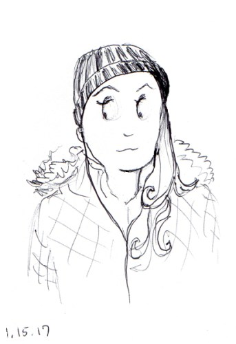 quick-cartoon-sketch-of-woman-with-ski-cap-and-long-hair