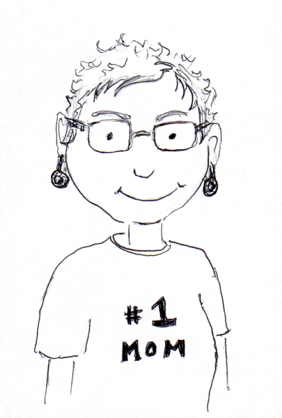 Cartoon #1 Mom portrait of my mom, by Joana Miranda