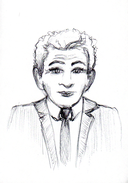 "Second ""blind"" ""forensic"" Berstein sketch by Joana Miranda"
