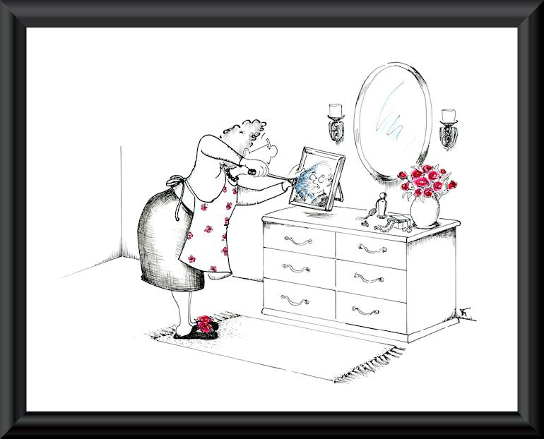 Funny husband and wife love cartoon by Joana Miranda
