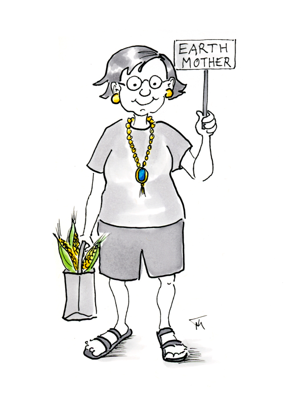 Funny Earth Mother cartoon by Joana Miranda