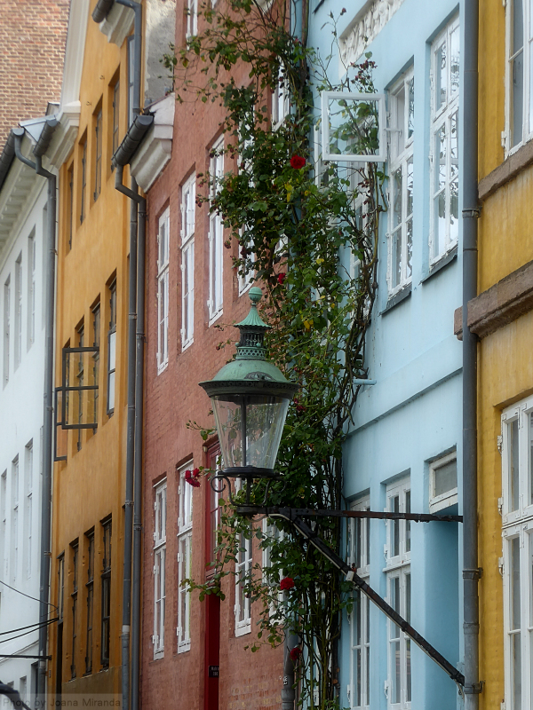 Photo of beautiful street in Copenhagen, Denmark