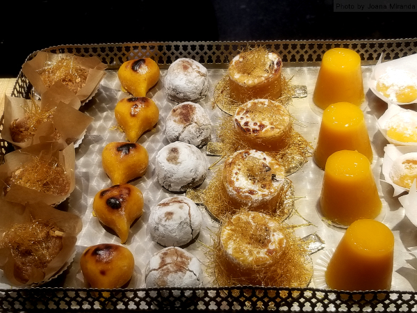 Doces de Ovos or egg sweets at Pastelaria Alcoa in Lisbon, Portugal