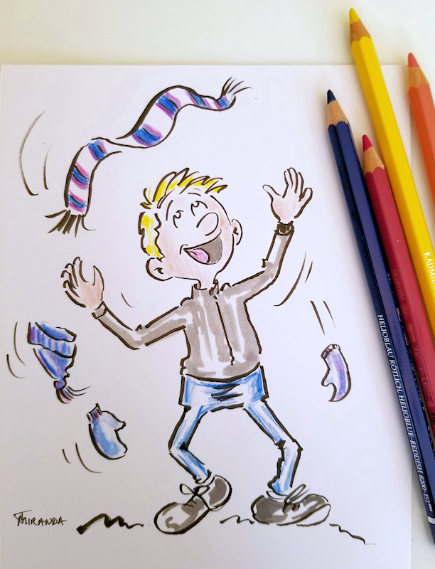 Photo of Spring Fling cartoon drawing by Joana Miranda