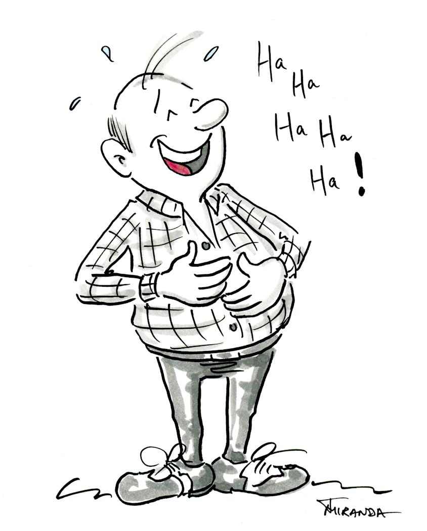 Cartoon Drawing Laughing Man • JOANA MIRANDA STUDIO