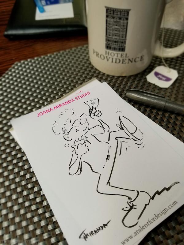 Happy-waiter-cartoon-Funny Drawings by-Joana-Miranda
