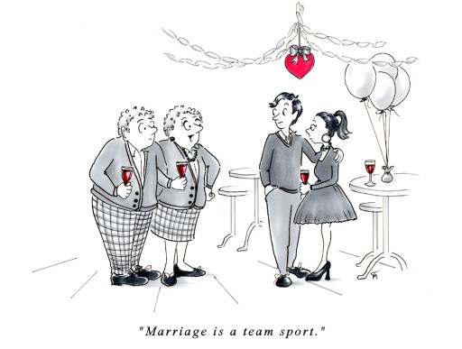 Marriage Advice Cartoons by Joana Miranda