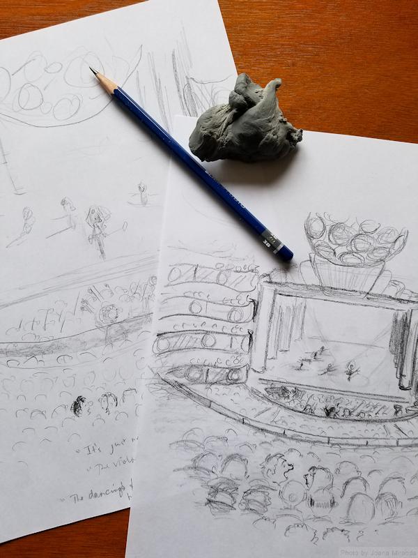 Cartoon doodles for custom cartoon greeting card by Joana Miranda