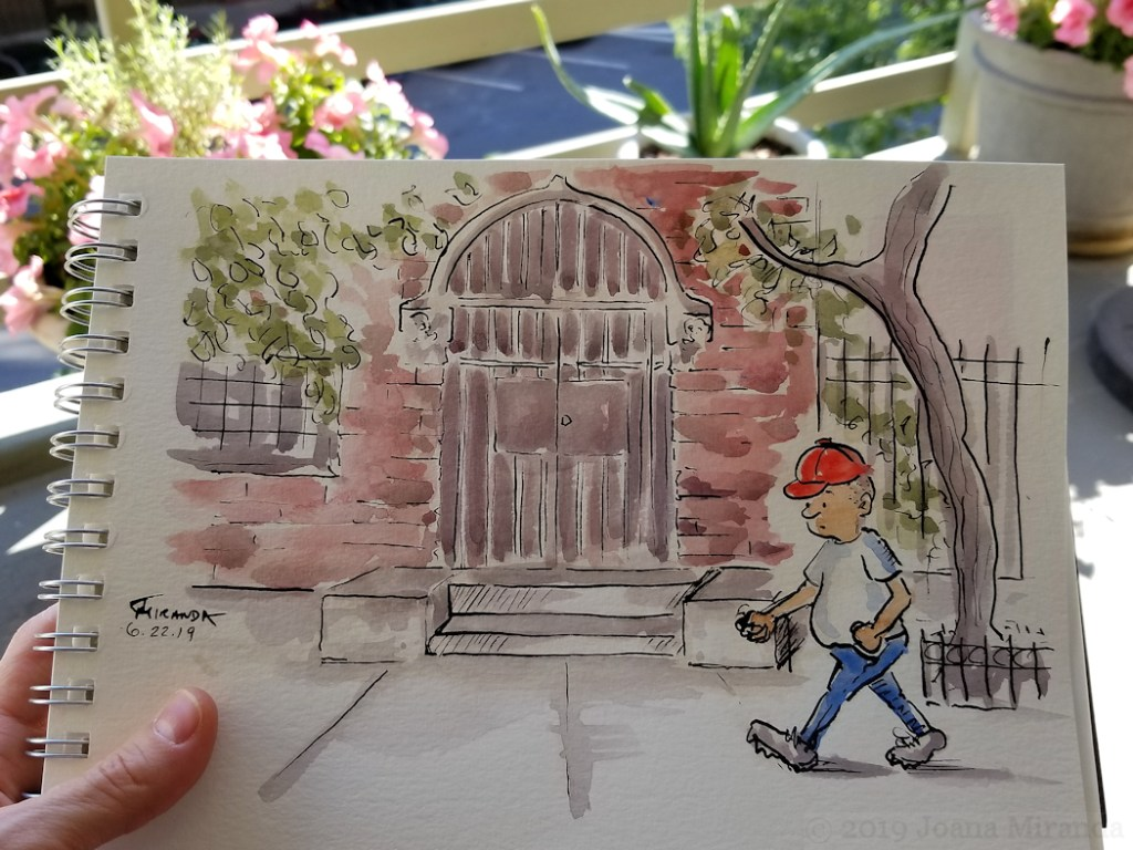 Watercolor Cartoon Drawings by-Joana-Miranda, Photo by Joana Miranda