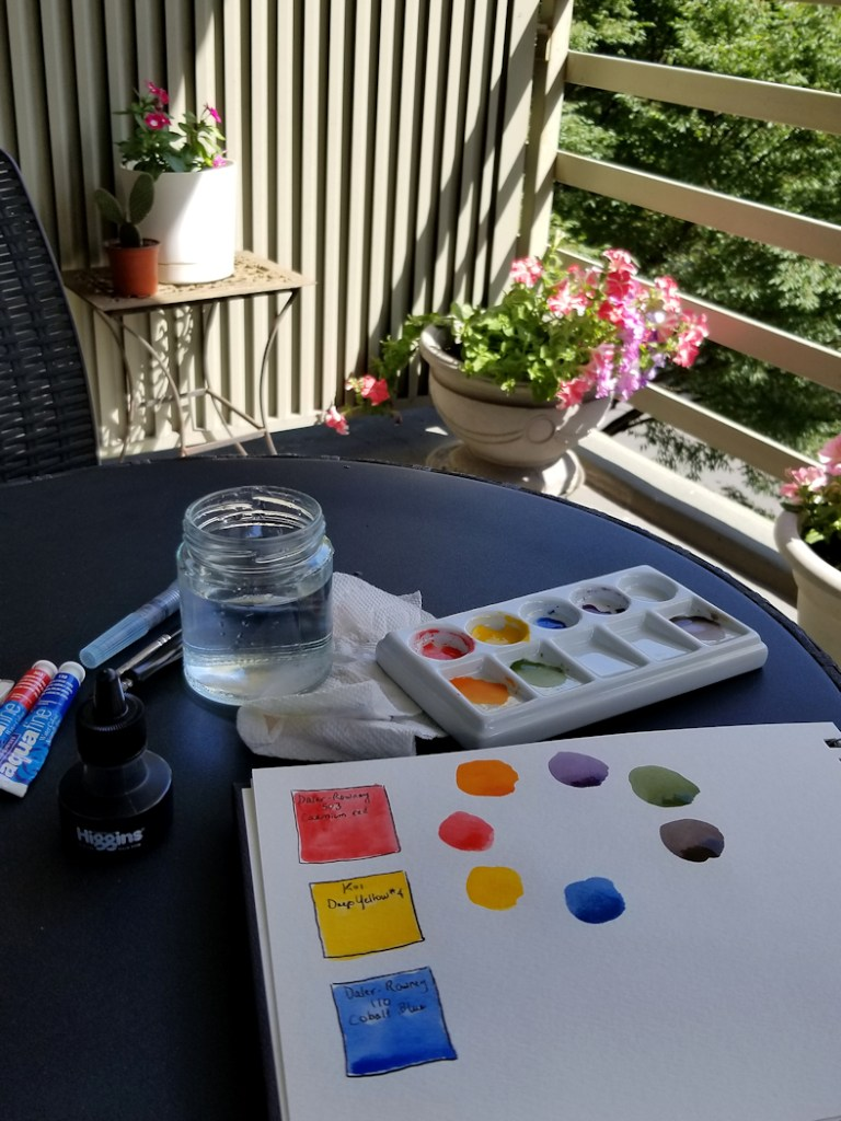 Photo-of-watercolor-palatte-test-on-our-balcony-taken-by-Joana-Miranda
